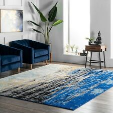 nuLoom Abstract Modern Area Rug Multi in Blue | 4.5 Star Amazon Reviews!