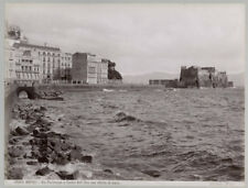 c.1880's PHOTO ITALY NAPOLI NAPLES COASTLINE - BROGI