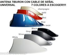 ANTENA CAR SHARK ANTENNA TIBURON VW FORD PEUGEOT TOYOTA CHEVROLET , 7 COLORES