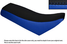 ROYAL BLUE & BLACK CUSTOM FITS CHAMP RX 100 DUAL LEATHER SEAT COVER
