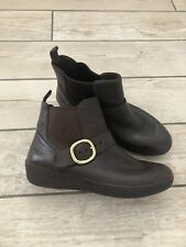 FITFLOP Brown Leather Chelsea Ankle Boots,size 6.5 Supercomff
