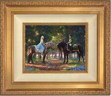 Thomas Kinkade Disney Cinderella Romance Awakens 9 x 12 LE SN Canvas Gold Frame
