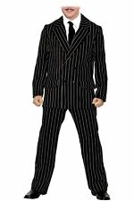 Mens Pinstripe Gomez The Addams Family Halloween Fancy Dress Costume