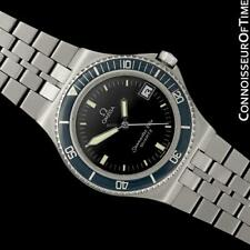 1984 OMEGA SEAMASTER CALYPSO 120M Vintage Mens SS Steel Watch - Mint