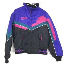 Arctic Cat Womens Aztec Jacket Color Block Black/Pink/Blue 90s Winter Coat Warm