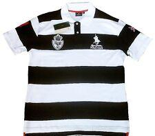 Royal Berkshire Polo Club Schwarz Weiss Sport T-Shirt Hemd Polohemd g.XL 56/58