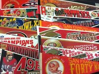 Vintage 12x30 SF 49ers Super Bowl Champs Pennant Joe Montana (.99 Ship on 2nd )