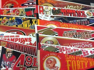 PICK 12x30 SF 49ers Super Bowl Champs Pennant Joe Montana (.99 Ship on 2nd )