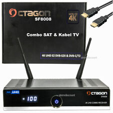OCTAGON SF8008 4K Receiver Combo DVB-S2X + DVB-C/T2 SAT + Kabel-TV WLAN USB 3.0