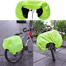 Waterproof Silk Rain Cover Coat For Bicycle Rear Seat Carrier Bag Rack Pannier