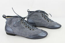 Chaussures Boots à Lacets ONE STEP Textile Bleu et Cuir synthétique T 36 TBE