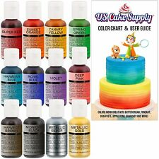 12 Pack Cake Decorating Paint Food Coloring Chef's Quality Liquid For mix Decor