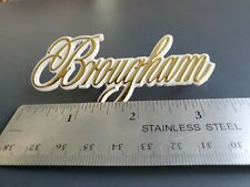 "Cadillac Brougham Gold And Gray Roof Panel Emblem With Pins ""New Other"""
