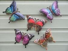 Garden Butterfly Wall Art - Set of Five - Garden Butterfly Ornaments - BN