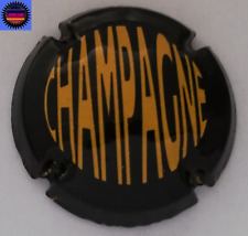 Capsule de Champagne Générique Noir et Jaune Rarisime !!!!!