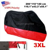 3XL Waterproof Motorcycle Cover For Harley-Davidson Street Glide FLHX Touring
