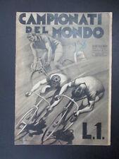 Ciclismo Speciale Campionati del Mondo 1938 Sport Illustrato Bartali-Martano