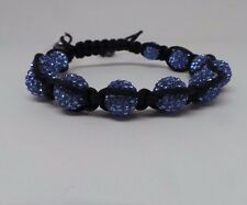 Lucet Mundi Ladies Light Blue Crystal and Hematite Shamballa Bracelet PB055