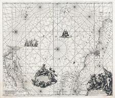 1715 Renard Map of the West Atlantic, New York to Guiana