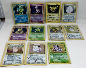11 POKEMON CARD LOT ALL RARE HOLO BASE SET 2 NEVER PLAYED EXCELLENT CONDITION