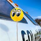 Moon Mooneyes Antenna Ball Yellow Logo Radio Custom Cool California Ford GM Cali