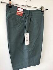 Mens Shorts (32) Green RRP £24.99 golf tailored elastic classic smart walking