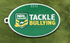 #D12. NRL RUGBY LEAGUE RUBBER BAG LABEL - TACKLE  BULLYING