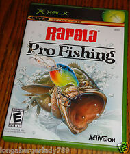 XBOX RAPALA PRO FISHING VIDEO GAME CASE INSTRUCTION BOOK DISC BASS  750 LURES