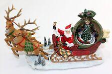 Spieluhr Weihnachtsmann Weihnachten Rentiere Eisenbahn 8 Melodien Santa Claus