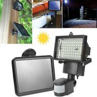 3W Solar Panel LED Flood Security Garden Light PIR Motion Sensor 60 LED Outdoor