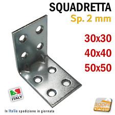 5-50 SQUADRETTA ANGOLARE L DI FISSAGGIO LASTRINA PIEGATA CON FORI 30X30 X40 X50