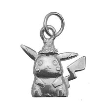 Detective Pikachu Sterling Silver 925 Charm Adorable little hat Jewelry Pokemon