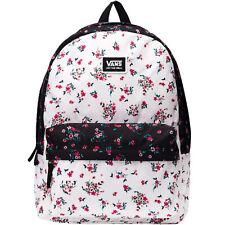 Vans Unisex Realm Classic Two Strap Adjustable Backpack Rucksack Bag - Floral