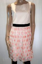 TARGET Brand Coral Cream Embroidered Skirt Day Dress Size 12 BNWT #TT73