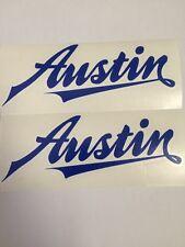 "AUSTIN J40 pedale auto ""AUSTIN"" ADESIVI x 2 Blue J 40"