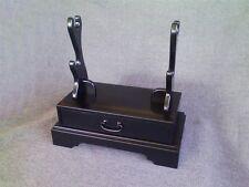 Japanese wooden black lacquered KATANA rack KAKE AIDU 会津 made in japan