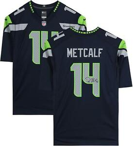 DK Metcalf Seattle Seahawks Autographed Navy Nike Game Jersey