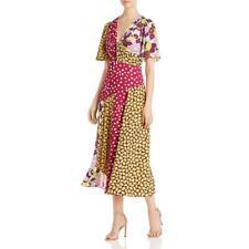 Kate Spade Womens Purple Printed Midi Long Maxi Dress 10 BHFO 3907