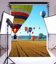 Background For Photography 5x7ft Hot Air Balloon Photo Backdrops Studio Props