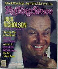 Rolling Stone Magazine 03/29/84 Jack Nicholson Billy Idol Cher Joan Collins