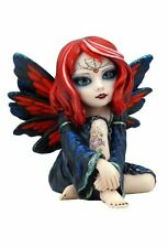 4.25 Gothic Fairy with Tattoo Statue Fantasy Magic Collectible Figurine Cosplay