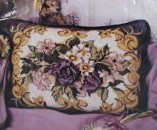 Needlepoint Kit Victorian Scroll Pillow Floral 16 x 12 Candamar Designs 30735