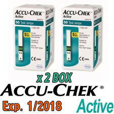 [Roche] ACCU-CHEK Active (50 x 2 = 100) Test Strips - Expiry Date: 01/2018