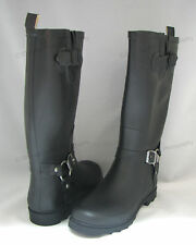 New Women's Rain Boots Harness Motocycle Mid-Calf Wellies Snow Rubber Size: 5-11