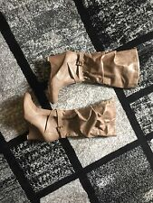 Women's Wedge Tall Boots Tan Size 11 Worn Once