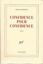 PAULE CONSTANT CONFIDENCE POUR CONFIDENCE
