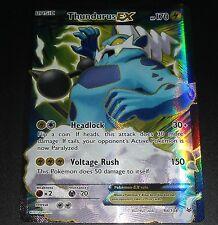 Thundurus EX 98/108 XY Roaring Skies NEAR MINT Pokemon Card FULL ART