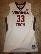 2013-14 Nike Virginia Tech Hokies Marshall Wood #33 Game Worn Basketball Jersey