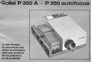 Originale Bedienungsanleitung Rollei P350 A/Autofocus, manual, 6-Sprachig