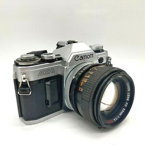 Canon AE-1 35mm SLR w/ FD 50mm f/1.4 SSC MF Standard Lens from JAPAN [ EXC +3 ]